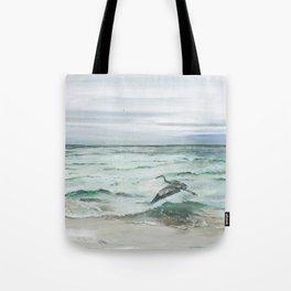 Anna Maria Island Florida Seascape with Heron Tote Bag