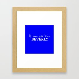 Beverly Framed Art Print