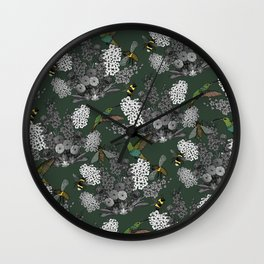 Hummingbirds and Bees (don't let them fade away) Wall Clock
