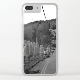 Buddhas on the Road Clear iPhone Case