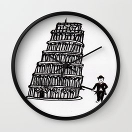 Tower of Pisa and a Chap Wall Clock