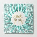 Treat Yo Self – Gold & Turquoise by catcoq