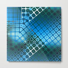 Place 2B Pattern (Summer Sky Blue) Metal Print