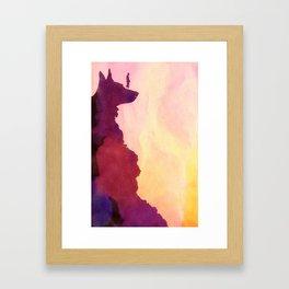 Peering Off From Dog Mountain Framed Art Print
