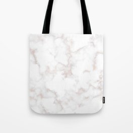 Rose Gold Marble Natural Stone Gold Metallic Veining White Quartz Tote Bag