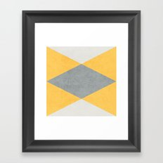summer time triangles Framed Art Print
