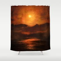 sunset Shower Curtains featuring Sunset by Viviana Gonzalez