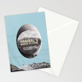 Hanibal's march to rome - http://matthewbillington.com Stationery Cards