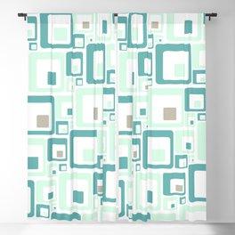 Retro Squares Mid Century Modern Background Blackout Curtain