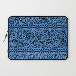 Blue Tudor Damask Laptop Sleeve