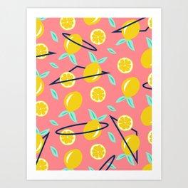 Lemons party #society6 #decor #buyart Art Print