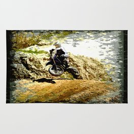 Dirt-bike Racer Rug