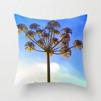 umbrella Throw Pillows featuring Umbrella by Herzensdinge