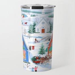 Wintertime in Sugarcreek Travel Mug