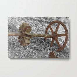Axel and Wheel Metal Print