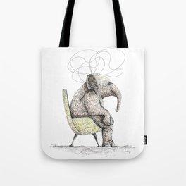 Sitting Elephant - Elefante Sentado Tote Bag