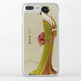 Itsutomi - Vintage Japanese Woodblock Clear iPhone Case