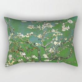 Almond Blossom - Vincent Van Gogh (avocado pastel) Rectangular Pillow