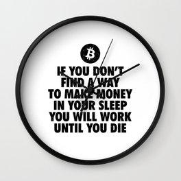Bitcoin Crypto Currency | Krypto Wallet BTC Gift Wall Clock