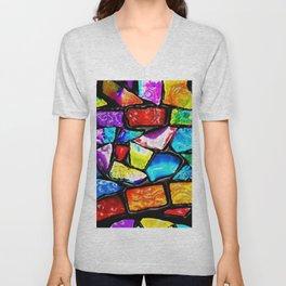 Colored Tile Mosiac - Jeanpaul Ferro Unisex V-Neck