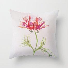 Butt Flowers Throw Pillow