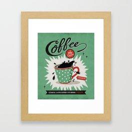 Saved By Coffee Framed Art Print