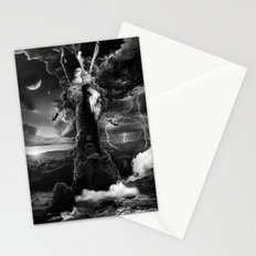 XVI. The Tower Tarot Illustration Stationery Cards