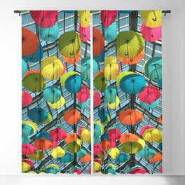 Rainbow Umbrella Blackout Curtain