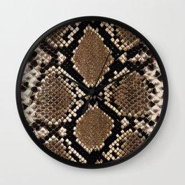 Faux Python Snake Skin Design Wall Clock