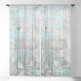 Marble - Mint Sheer Curtain
