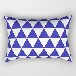 Triangles (Navy & White Pattern) Rectangular Pillow