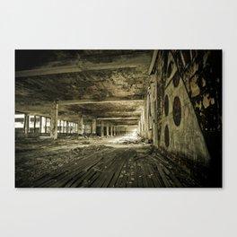 Crumbling History - Detroit Motor City Canvas Print