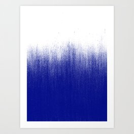 Ink Blue Ombré Art Print