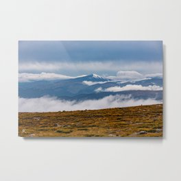 Frozen tundra and Long's Peak Metal Print