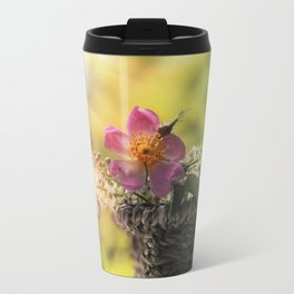 Lovely flowerbouquet in a special light- Rose Roses Travel Mug