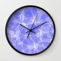bubbles Wall Clocks featuring Bubbles by Harvey Warwick