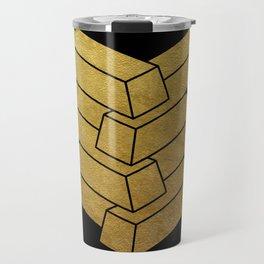 illusory (Black) Travel Mug
