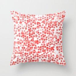 Cherry Polka Dots Distressed Throw Pillow