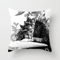 When I think about you, flowers grow out of my brain. Throw Pillow