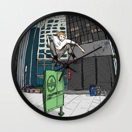 Ollie Over Manhattan Park Wall Clock