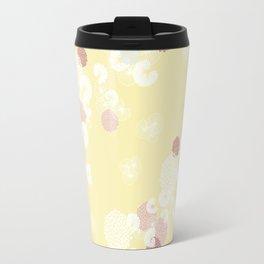 Floral Seamless Pattern on Yellow Travel Mug