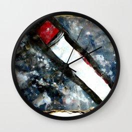 Red matchstick Wall Clock