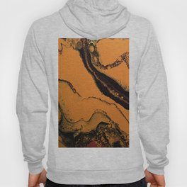 Dirty Acrylic Pour Painting 07, Fluid Art Reproduction Abstract Artwork Hoody