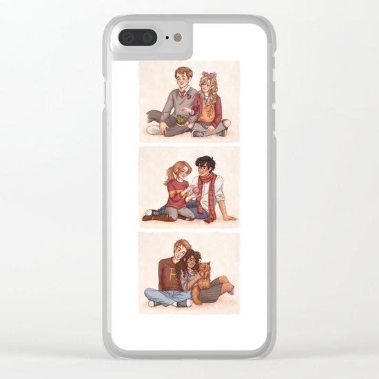 The Golden and the Silver Trio Clear iPhone Case