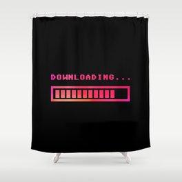 Downloading progress bar 8-bit hue Shower Curtain