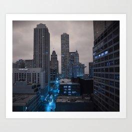 Blue Chicago Art Print