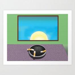 Pulp Sunrise Art Print