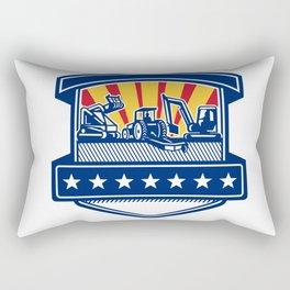 Mulcher Bush Hog and Excavation Services Badge Rectangular Pillow