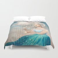 rain Duvet Covers featuring Melody of Rain by Christian Schloe