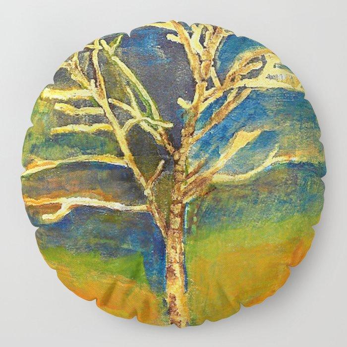 Golden Birch Floor Pillow